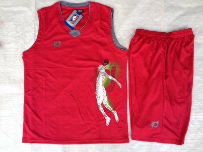ชุดบาสเกตบอล KD สีแดง