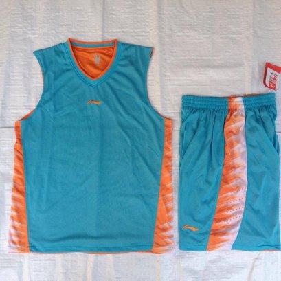 ชุดบาสเกตบอล Liningผ้า2ชั้น สีฟ้า