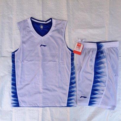 ชุดบาสเกตบอล Liningผ้า2ชั้น สีขาว