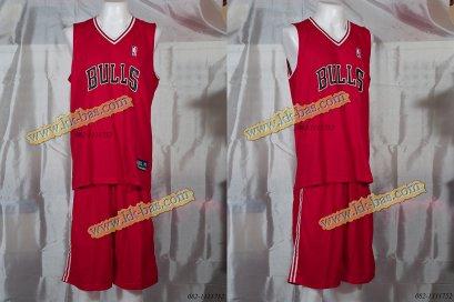 ชุดบาสเกตบอล NBA-BULL สีแดง