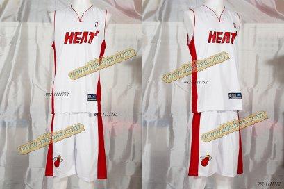 ชุดบาสเกตบอล NBA-HEAT สีขาว