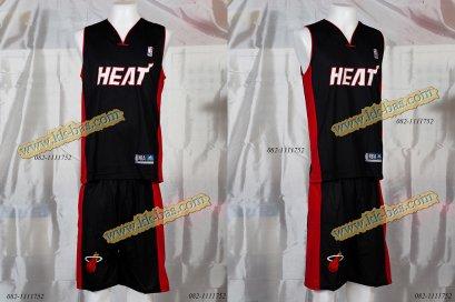 ชุดบาสเกตบอล NBA-HEAT สีดำ