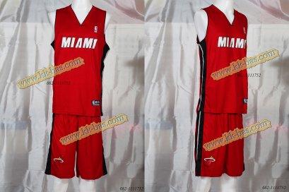 ชุดบาสเกตบอล NBA-HEAT สีแดง