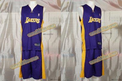 ชุดบาสเกตบอล NBA-Laker สีม่วง