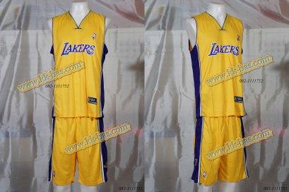 ชุดบาสเกตบอล NBA-Laker สีเหลือง