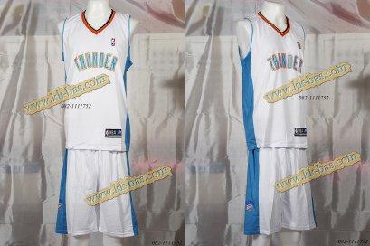 ชุดบาสเกตบอล NBA-OKC Thunder สีขาว