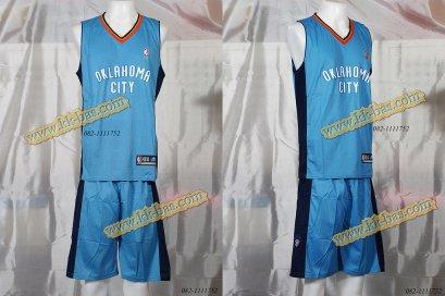 ชุดบาสเกตบอล NBA-OKC Thunder สีฟ้า