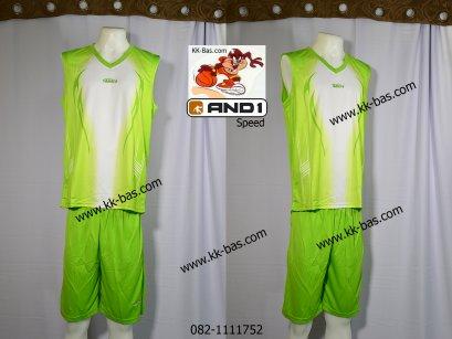 ชุดบาสเกตบอล *AND1-SPEED สีเขียว