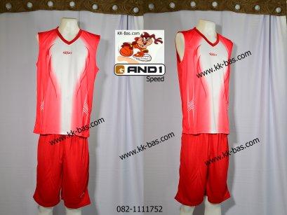 ชุดบาสเกตบอล *AND1-SPEED สีแดง