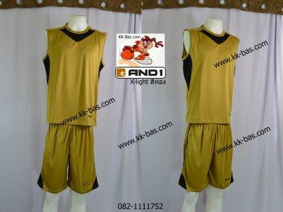 ชุดบาสเกตบอล *AND1-X-light สีทอง