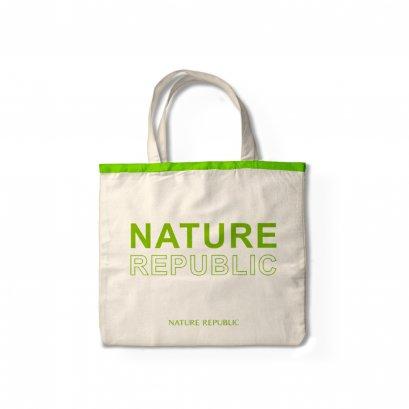 NATURE REPUBLIC ECO BAG (GREEN) กระเป๋าผ้าแคนวาส สกรีนลาย สีเขียว