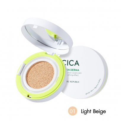 GREEN DERMA MILD CICA SERUM COVER CUSHION SPF50+ PA+++ #01 LIGHT BEIGE