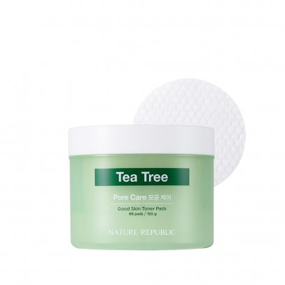 GOOD SKIN TEA TREE AMPOULE TONER PAD (150g)