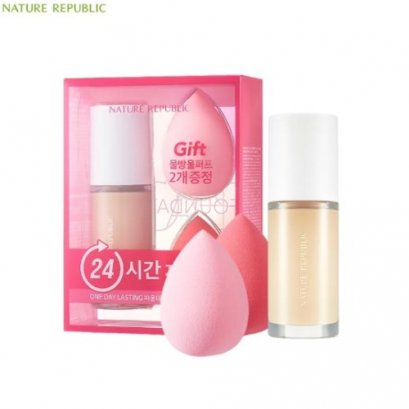 [SPECIAL SET] PROVENCE AIR SKIN FIT ONE DAY LASTING FOUNDATION #Y21 PURE VANILA (30ml +2 puffs)
