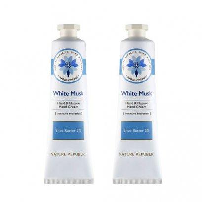 ( สุดคุ้ม 1 แถม 1 ) HAND&NATURE WHITE MUSK HAND CREAM ( 30 ml )