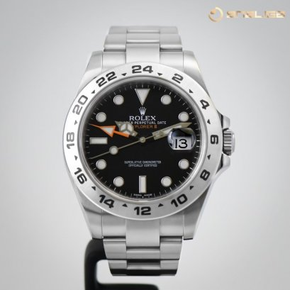 Rolex Explorer II 42mm Steel GMT Black Dial 216570