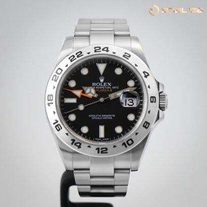 Rolex Explorer II 42mm Steel GMT Black Dial 216570