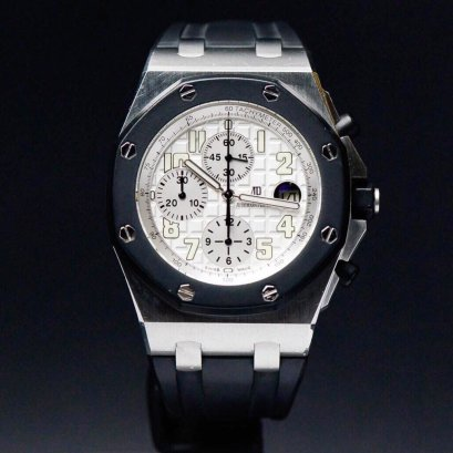 Audemars Piguet Rubber Clab Stainless Steel Chronograph