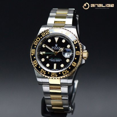 Rolex GMT Master ii Greenhand Ceremic Steel & Yellow Gold