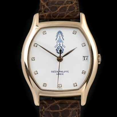 PATEK PHILIPPE, REF. 5030, GOLDEN JUBILEE OF THAILAND A fine, rare and limited, self-winding, 18k pink gold wristwatch with special dial and engraving.