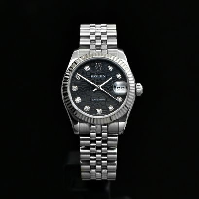 Rolex Datejust Boy size 31m Steel with White Gold Bezel Jubilee