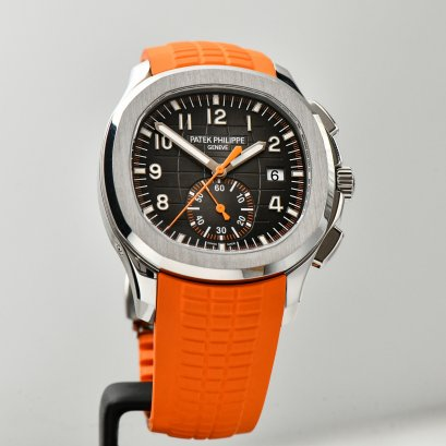 "Patek Philippe 5968A Aquanaut Chronograph ""Orange Theme Hand & Composit Srap"" size 42m"