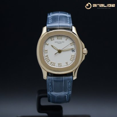 "Patek 5060R Aquanaut Rose Gold Ivory Dial ""Very Rare Y1996 size 35m"