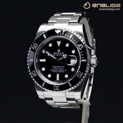 Rolex Submarine Date Ceramic  หน้าปัดดำ ขอบเซรามิค  เรือนSteel  ขนาด 40มิล Man Size