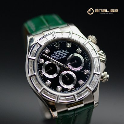 Rolex Daytona White Gold Diamond Baguette