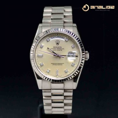 President Day Date 36m White Gold 3 Steps