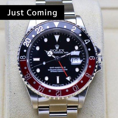 Rolex GMT-MasterII Coke หน้าดำขอบฟิมล์  แดงน้ำเงิน  เรือน Steel