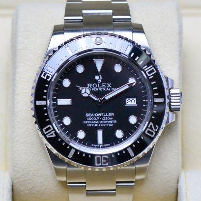 Rolex Sea-Dweller 4000หน้าปัดดำ ขอบเซรามิค  เรือน Steel  ขนาด Man Size 40มิล