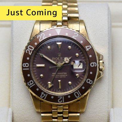 "Rolex GMT-Master Vintage ""Rare Item""Rootbeer  yellow gold เรือนทองสายจูบิลี่  ขนาด40มิล Man Size"