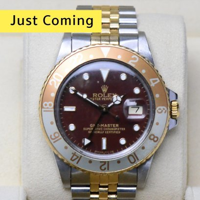 """Rolex GMT Master Root Beer Steel & Gold Jubilee 40m """"Rare and Must Have"""" Man Size"""