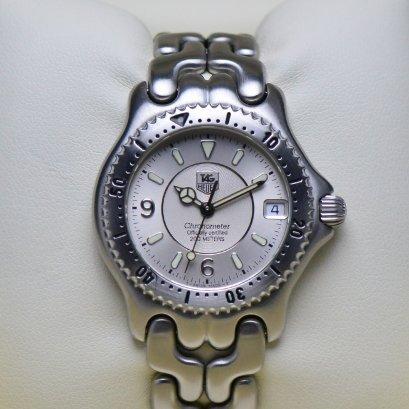 TAG Heuer ก้างปลา หน้าปัด Silver3ชั้น  เรือน Steel  ขนาด 35มิล Boy Size