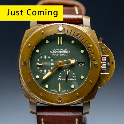 Pam 507: Panerai Submersible Bronze หน้าเขียวหายาก Automatic Power Reserve size 47m Box and Good No.