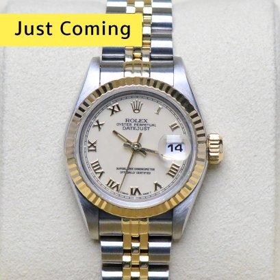 Rolex Datejust หน้าปัดครีมหลักโรมัน2กษัตริย์ สายจูบิลี่โปร่ง  ขนาด26มิลLady Size