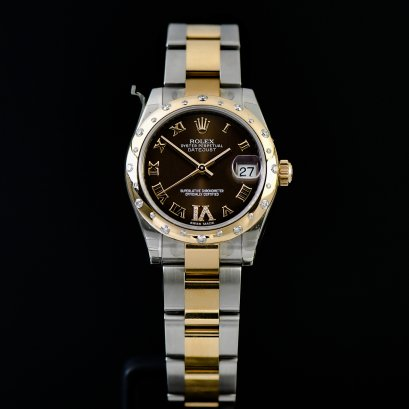 Rolex Datejust หน้า Chco ขอบเพชร กระจาย VI 2Tone Stainless Steel & Pink Gold Boy Size 31 mm