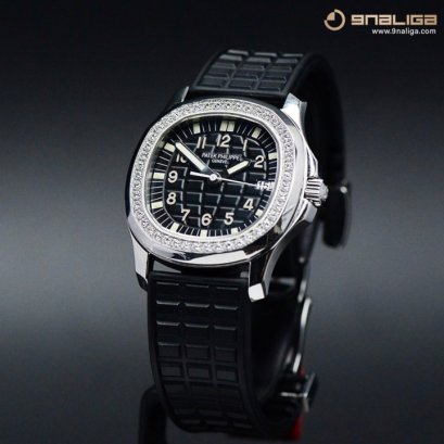 Patek Philippe 5067A Aquanaut Diamobd Stainless Steel - Black Dial 35m Box and Paper P755xxxB
