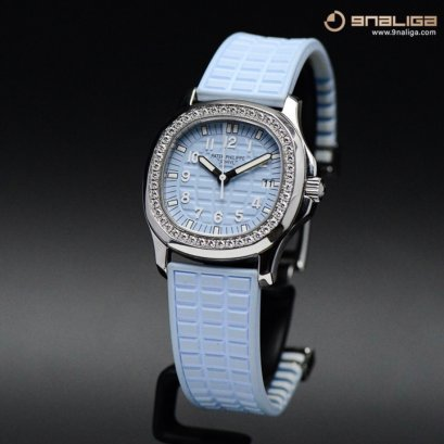 Patek Philippe 5067A Aquanaut Diamobd Stainless Steel - Limited Edition 10th Anniversary Y2007 - Light Blue Dial 35m P725xxxB