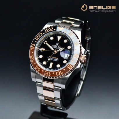 Rolex GMT Master II Root Beer Steel & Everose Gold Y2019 Box and Paper