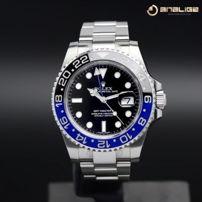 Rolex GMT Master II Blue Black Oyster Y2013 Box and Paper