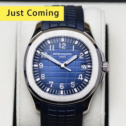 Patek Philippe 5168G-001  Aquanaut White Gold Blue Dial  42.2mm   Jumboo Size
