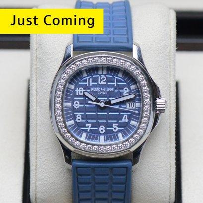 Patek Philippe 5067/A Blue Metalic หน้าปัดฟ้ารุ่นใหม่ขอบเพชร  ขนาด35มิล Boy Size