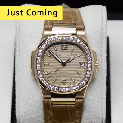 Patek Philippe 7010R Nautilus Rose Gold with Diamond Bezel 33m