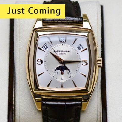 "Patek Philippe 5135R Conplication Annual Calendar Square Rose Gold Leather Strap ""Discont and Rare Item"" 40m P1.xMB"
