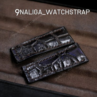 Crocodile Watch Strap 20/15mm 55/55mm