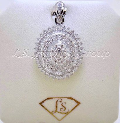 Fancy and Heart & Arrow diamond pendant
