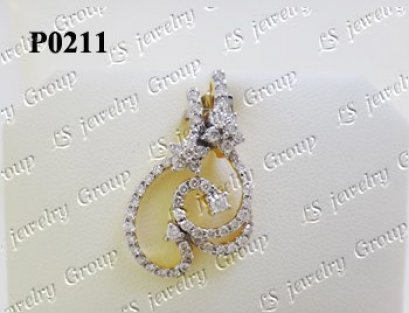 จี้เพชร (Diamonds Pendent) เพชร Heart & Arrow - Russian Cut Finest Diamonds