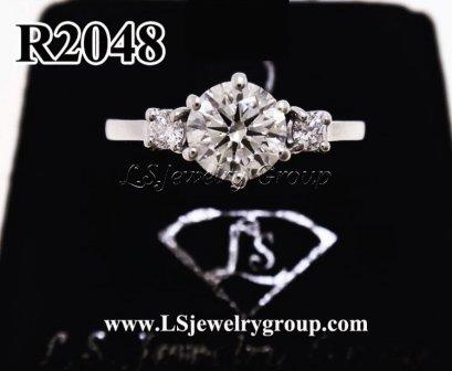 แหวนเพชรชู ประดับเพชรข้าง เพชร Heart & Arrow
